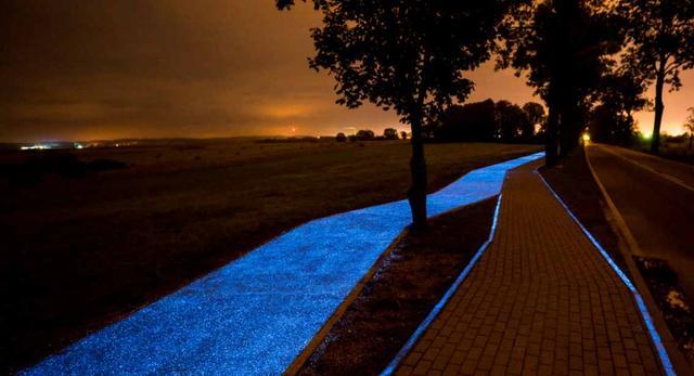 Świecąca ścieżka rowerowa w Polsce