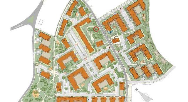 Plan osiedla Olimpia Port we Wrocławiu