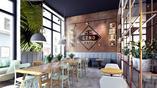 Nowoczesne wnętrza kawiarni
