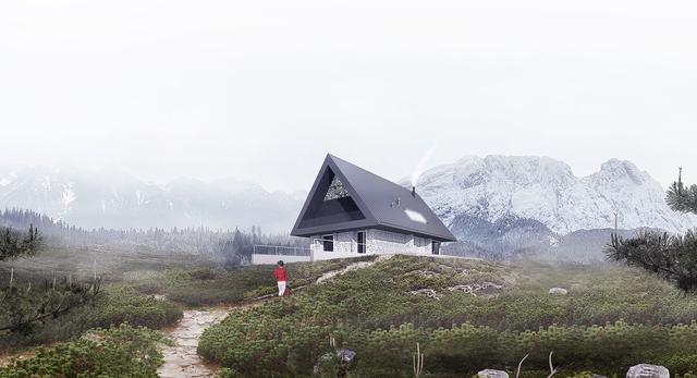 Dom z prywatnym Giewontem