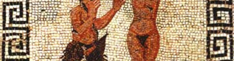 Mozaika przedstawiająca Pana i Hamadriadę - Pompeje