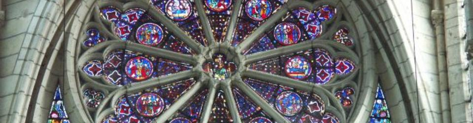 Rozeta w katedrze Soissons, Francja