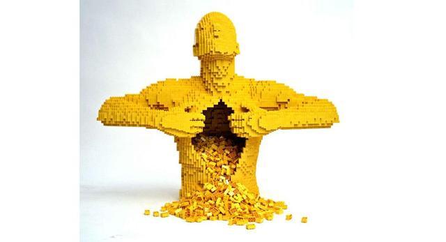 Rzeźby z klocków lego