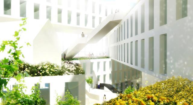 kwiatowy hotel Flowerbed projektu MVRDV