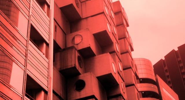 Architektura Tokio - wieża kapsułkowa Nakagin