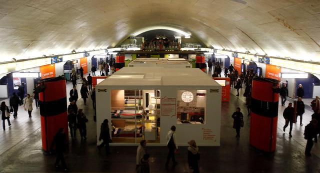 ikea reklama metro paryż
