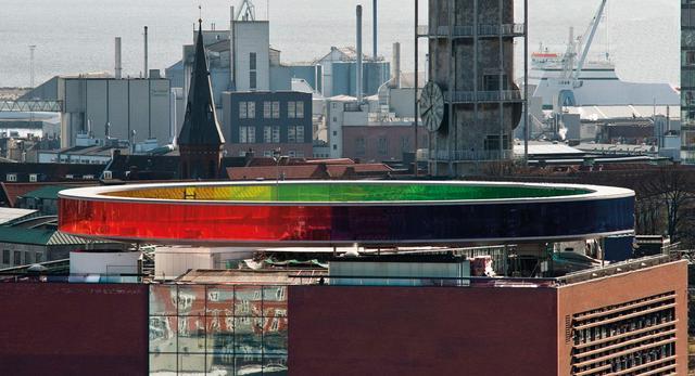 Olafur Eliasson instalacja artystyczna na dachu muzeum sztuki