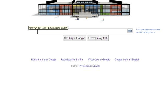 Google Doodle z Ludwigiem Mies van der Rohe