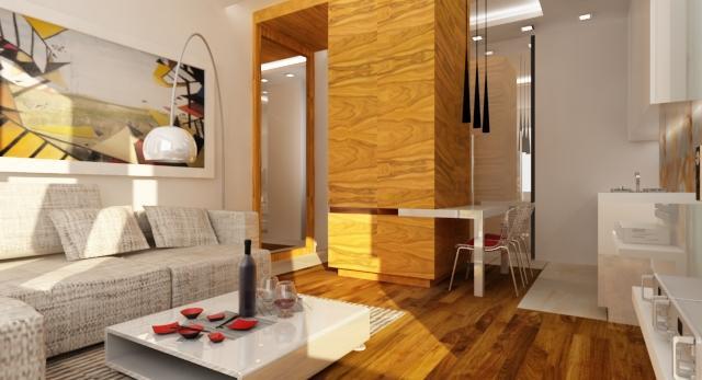 Małe, a nowoczesne słoneczne mieszkanie