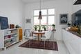 Białe skandynawskie mieszkanie w Goteborgu
