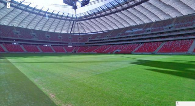 Stadion w Warszawie w Google Street View