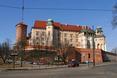 Widok od strony ul. Grodzkiej na Zamek Królewski na Wawelu