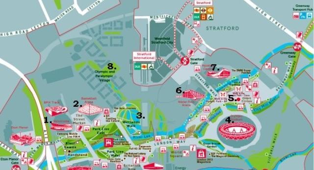 Mapa Miasteczka Olimpijskiego - co warto zobaczyć