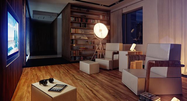 Modernistyczne wnętrze małego mieszkania 4
