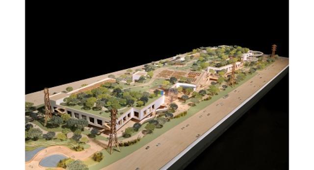 Zagospodarowanie terenu wraz z nowym budynkiem Facebook'a