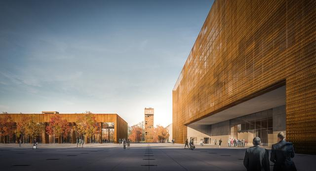 Dobrana kolorystyka oraz rozłozysty kształt zabudowań nadaje Muzeum Wojska Polskiego nowoczesny charakter odpowiadający przedstawianym tam obiektom