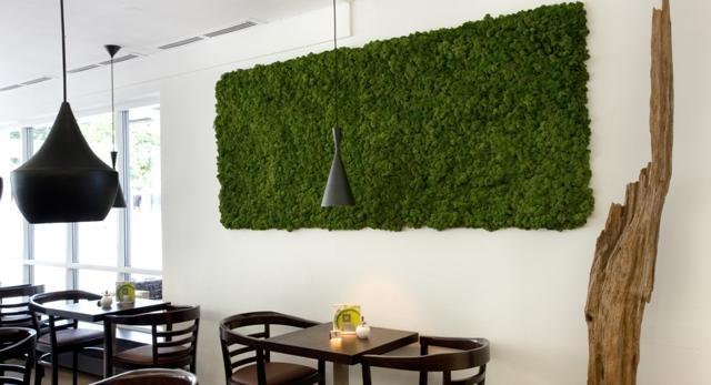Mech na ścianę zobacz zielone ściany we wnętrzach
