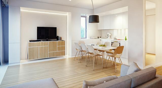 Nowoczesne wnętrze – nowy projekt w portfolio pracowni 81.WAW.PL. Zobacz wnętrza mieszkania ze znikającym gabinetem. Architektura wnętrz – galeria