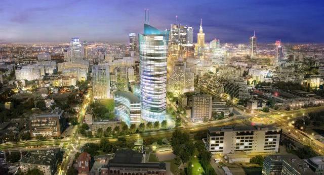 Wieżowce Warszawy! Warsaw Spire już w budowie! Czyja to architektura? Zobaczcie spektakularne wizualizacje!