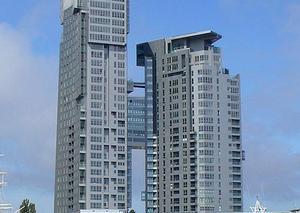 Sea Towers w Gdyni uważane są za szpecącą architekturę miasta bryłę