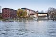 Bryła mariny w Bydgoszczy z poziomu wody