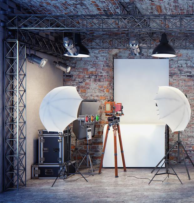 Małe mieszkanie? Raczej nie, ale miniaturowe studio fotograficzne zmieści sie w lofcie Nowej Papierni