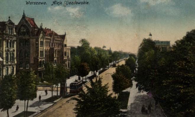 Aleje Ujzadowskie w Warszawie, ok. 1925