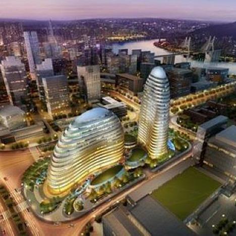 Wieżowce Meiquan 22nd Century wznoszone w mieście Chongqing w środkowych Chinach przybrały niemalże identyczna formę jak Wangjing Soho projektu Zahy Hadid (zdjęcie za www.neogaf.com)